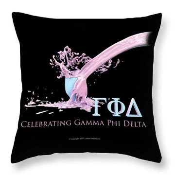 Gamma Phi Delta Splash Throw Pillow