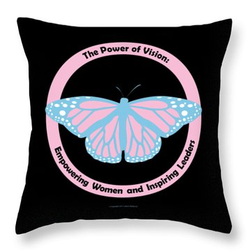 Gamma Phi Delta, The Power Of Vision Throw Pillow