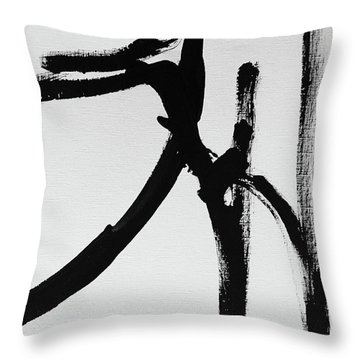 Throw Pillow featuring the painting Gamut by Robin Maria Pedrero