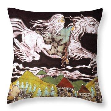 Gandalf And Shadowfax Throw Pillow