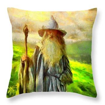 Gandalf, The  Grey Throw Pillow
