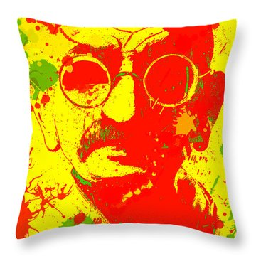 Gandhi Splatter Throw Pillow