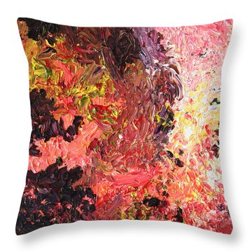 Ganesh In The Garden Throw Pillow by Ralph White