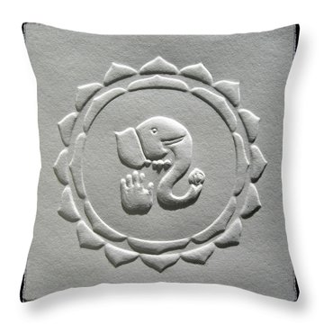Ganesha Blessings Throw Pillow