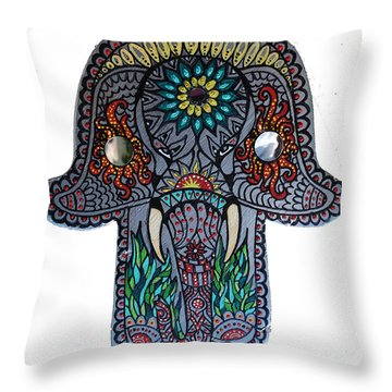Ganesha Hamsa Throw Pillow