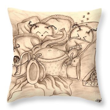 Ganesha's Day Off Throw Pillow by Coriander  Shea