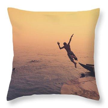 Ganges  Throw Pillow by Marji Lang