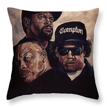 Gangsta Trinity Throw Pillow