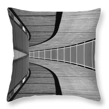 Throw Pillow featuring the photograph Gangway by Chevy Fleet