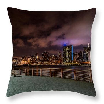 Throw Pillow featuring the photograph Gantry Park by Rafael Quirindongo