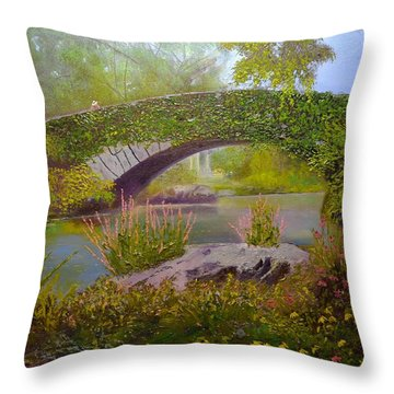 Gapstow Bridge Central Park Throw Pillow