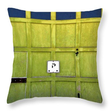 Garage Door Throw Pillow