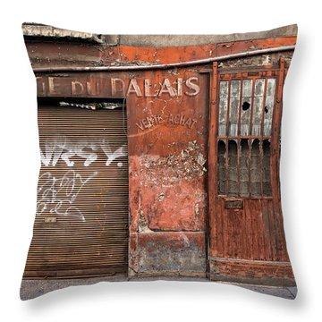 Garage Du Palais Throw Pillow