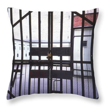 Garages And Gate Throw Pillow
