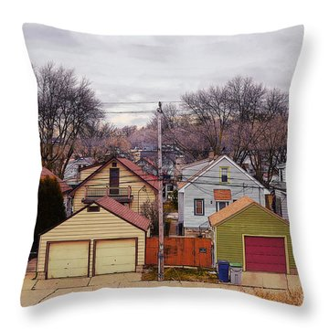 Garages Throw Pillow