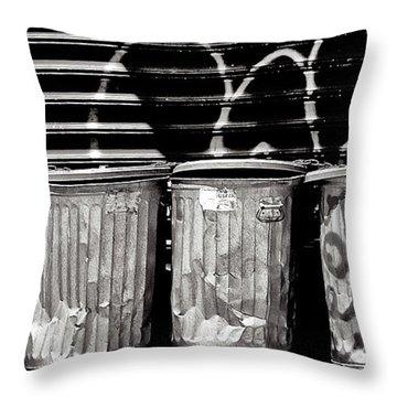 Garbage Throw Pillow by Madeline Ellis