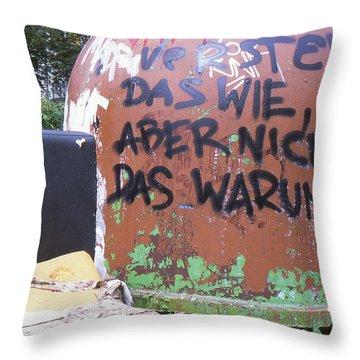 Garbage Message Throw Pillow