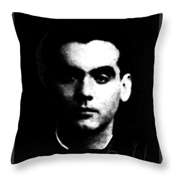 Garcia Lorca Throw Pillow by Asok Mukhopadhyay