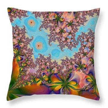 Garden 2 Throw Pillow by Alexandru Bucovineanu