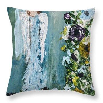 Garden Angel Throw Pillow