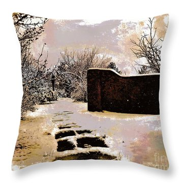Garden Art Print  Throw Pillow
