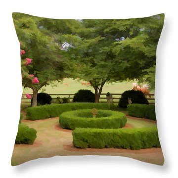 Garden At Colonial Heights Throw Pillow