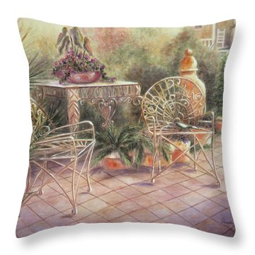 Garden At Linwood  Throw Pillow