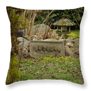 Garden Babies Throw Pillow