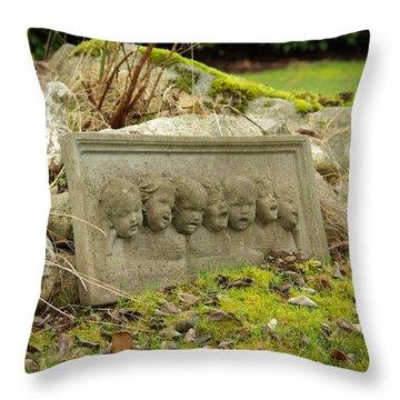 Garden Babies II Throw Pillow