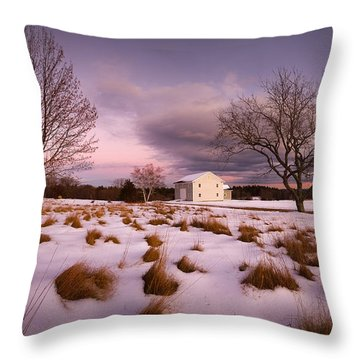 Garden Barn Throw Pillow