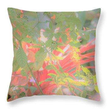 Garden Beauty Throw Pillow