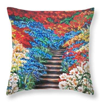 Garden Cascade Throw Pillow