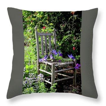 Garden Chair Throw Pillow