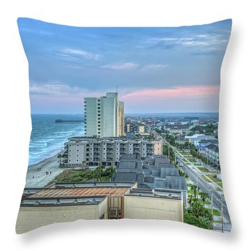 Garden City Beach Throw Pillow