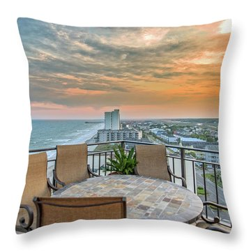 Garden City Beach View Throw Pillow