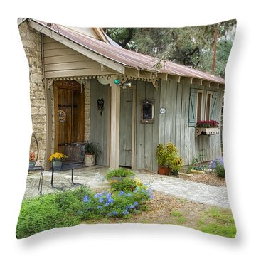 Garden Cottage Throw Pillow by Kathy Adams Clark