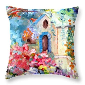 Garden Door  Throw Pillow