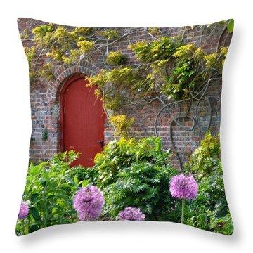 Garden Door - Paint With Canvas Texture Throw Pillow