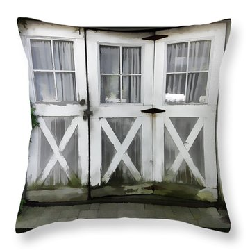 Garden Doors Throw Pillow