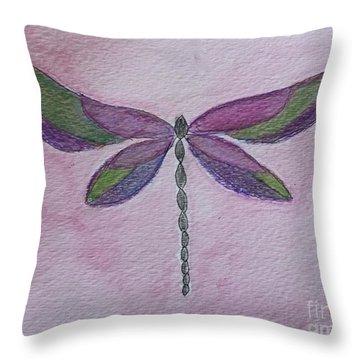 Garden Dragonfly Throw Pillow