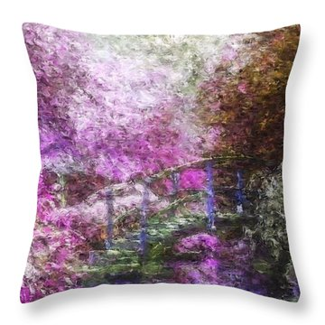 Throw Pillow featuring the painting Garden Dream by Mark Taylor
