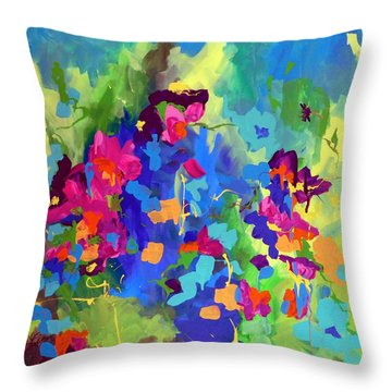 Garden Dreams Throw Pillow by Terri Einer