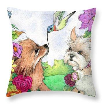 Garden Dwellers Throw Pillow