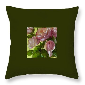 Garden Elegance Detail Image Throw Pillow