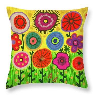 Garden Extravaganza Throw Pillow