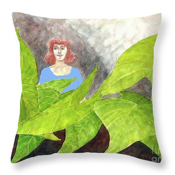 Garden Fantasy  Throw Pillow by Fred Jinkins