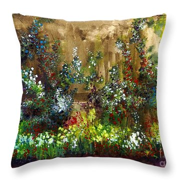 Garden Fence Throw Pillow