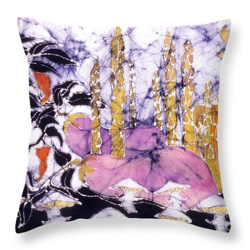 Garden Fest From The Sun Throw Pillow by Carol  Law Conklin