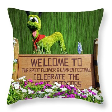 Garden Festival Mp Throw Pillow by Thomas Woolworth