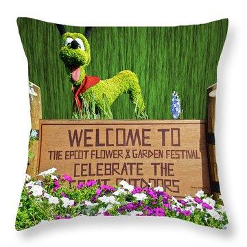 Garden Festival Mp Throw Pillow